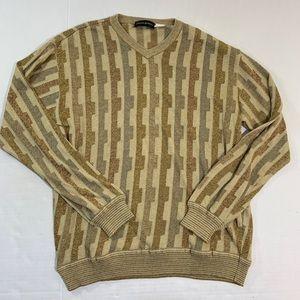 Jhane Barnes Silk Blend Abstract Sweater L